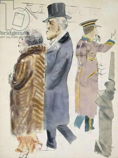 American Rich, 1932-33 (watercolour and pen and ink on paper)