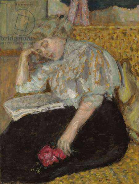 Woman with Rose; Femme a la rose, 1908 (oil on paper laid down on canvas)
