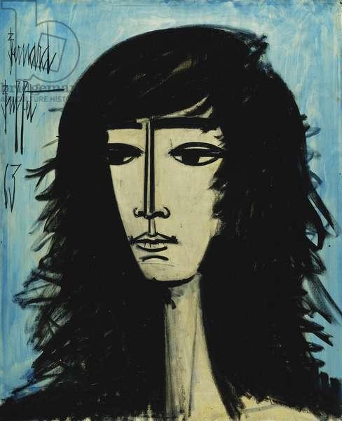 Portrait of a Woman; Portrait de Femme, 1963 (oil on canvas)