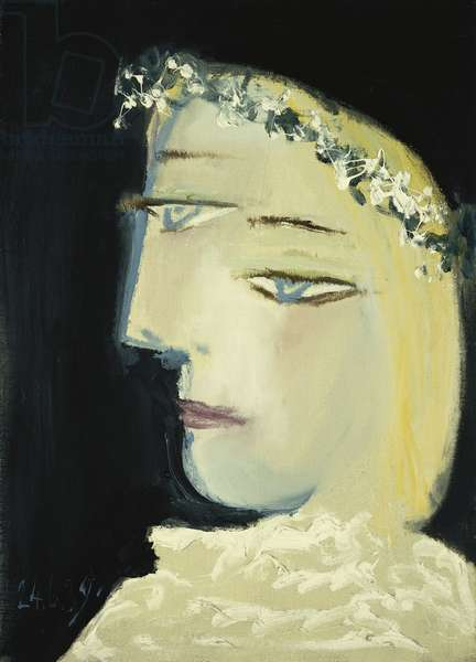 Woman Crowned with Flowers; Femme Couronee de Fleurs, 1937 (oil on canvas)