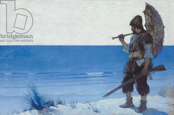 Robinson Crusoe: Endpaper, 1920 (oil on canvas laid down on board)