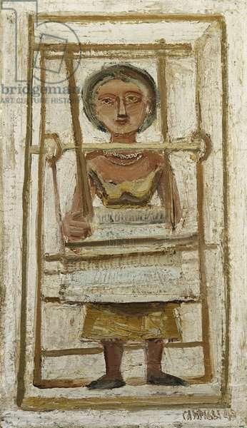 The Weaver; La Tessitrice, 1949 (oil on canvas)