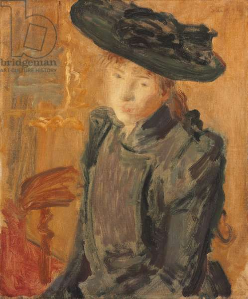 Girl in a Large Hat, 1892 (oil on canvas)