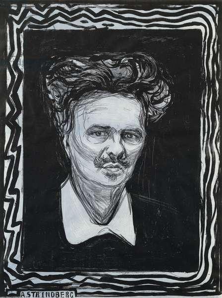 Portrait Strindberg; Portrat Strindberg, 1896 (lithograph)