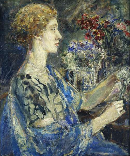 Portrait of Dame Flora Robson, (oil on canvas)