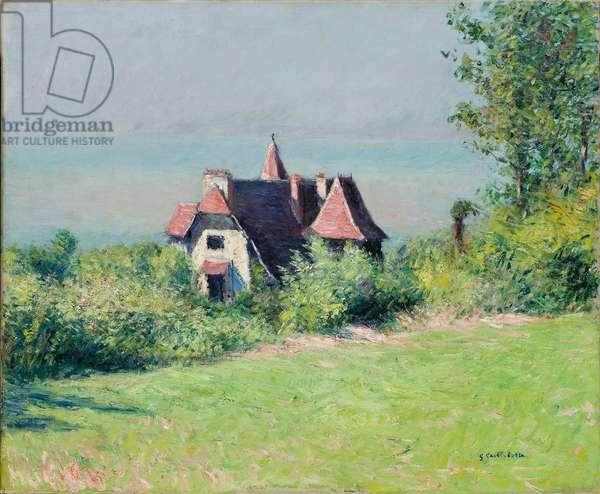 A Villa at Trouville, 1882 (oil on canvas)