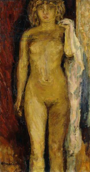 Nude, illuminated by a Lamp, 1911 (oil on canvas)