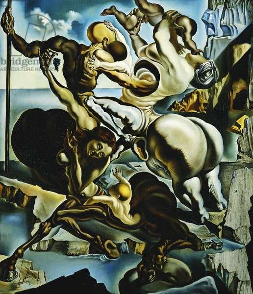 The Family of Marsupial Centaurs; La Famille des Centaures Marsupiaux, 1940 (oil on canvas)