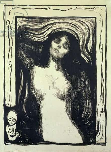 Madonna, Loving Woman (Madonna, Liebendes Weib) (woodcut)