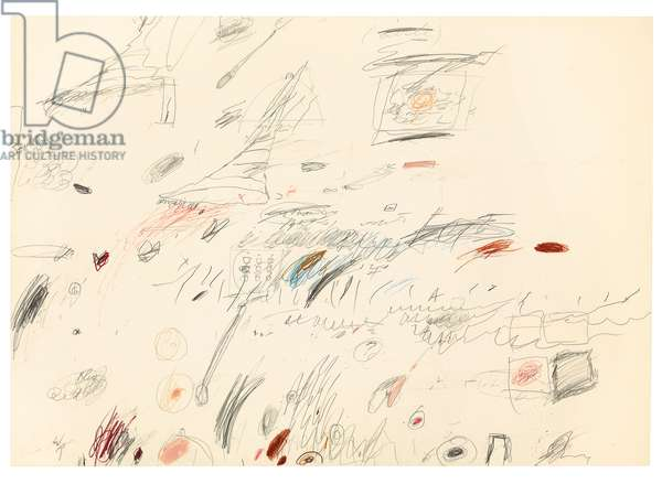Untitled, 1959-1961 (graphite, coloured pencil, ball point pen and wax crayon on pape)