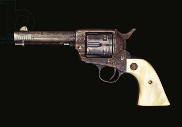 A factory engraved Colt , c.1913 (metal, mother of pearl)