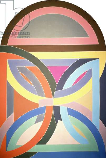Gur Variation, 1969 (acrylic and graphite on shaped canvas)