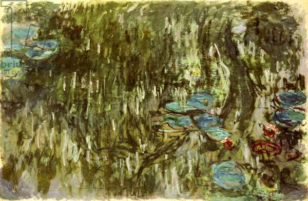 Water Lilies, Reflected Willow, c.1920 (oil on canvas)