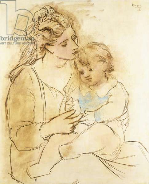 Mother and Child, 1922 (oil on canvas)