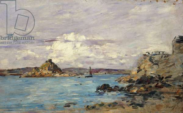 Study for 'The Bay of Douarnenez', c.1895-97 (oil on canvas)