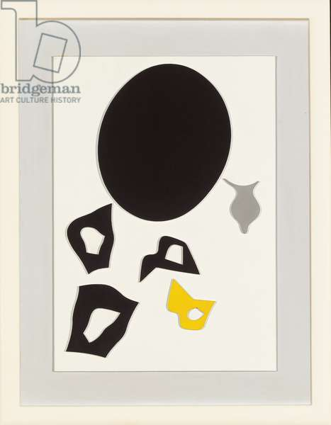 Under the Black Sun of Joy; Sous le soleil noir de joie, 1957 (oil on board relief laid down on board)
