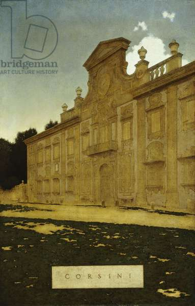 Villa Corsini outside Florence, 1904 (oil on paper stretched over wood)