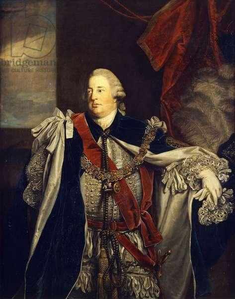 Portrait of William Augustus, Duke of Cumberland, standing three-quarter length, in Garter Robes, (oil on canvas)