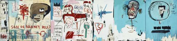 Life like Son of Barney Hill, 1983 (acrylic, oilstick and xerox collage on canvas)