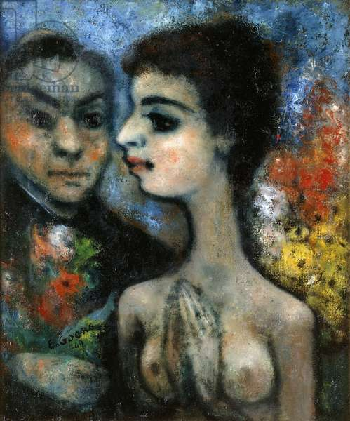 All the World Could be in Love; Tout le Monde peut etre Amoureux, 1949 (oil on canvas)