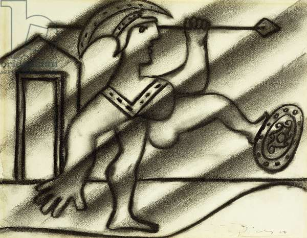 Soldat Romain, 1934 (charcoal on paper)