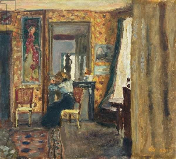 Woman in an Interior; Femme dans un interieur, c.1908 (oil on canvas)