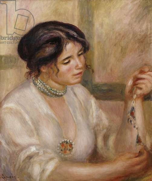 Woman with a Necklace (oil on canvas)
