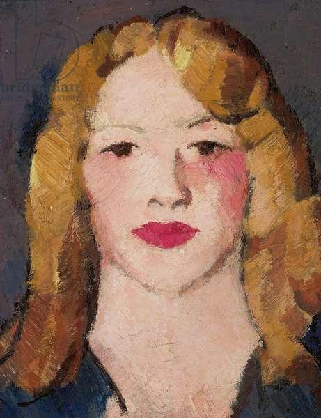 Head of a Girl, 1914 (oil on board)