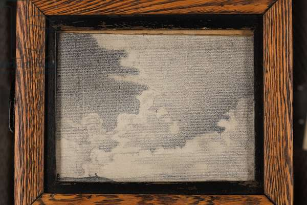 Sketch of landscape and clouds, c.1917-19 (pencil on paper)