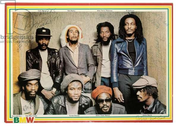 Bob Marley and The Wailers, 1980 (colour litho)