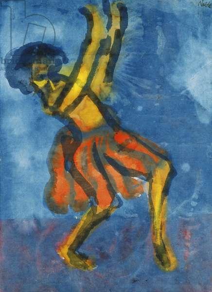 Dancer; Tanzerin,  (watercolour on japan paper)