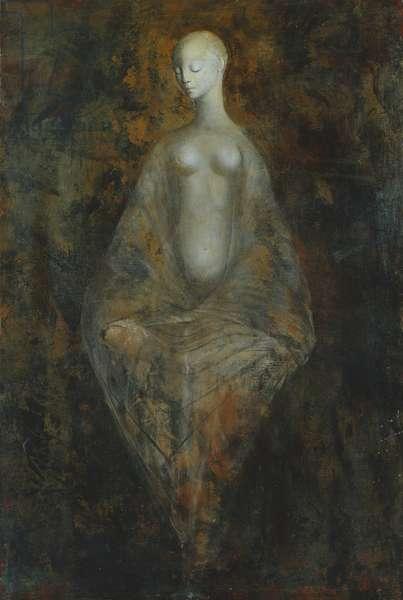 Draped Woman; Femme Drapee, (oil on canvas)