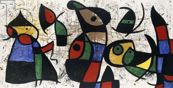 Bird People, 1974-76 (oil on canvas)