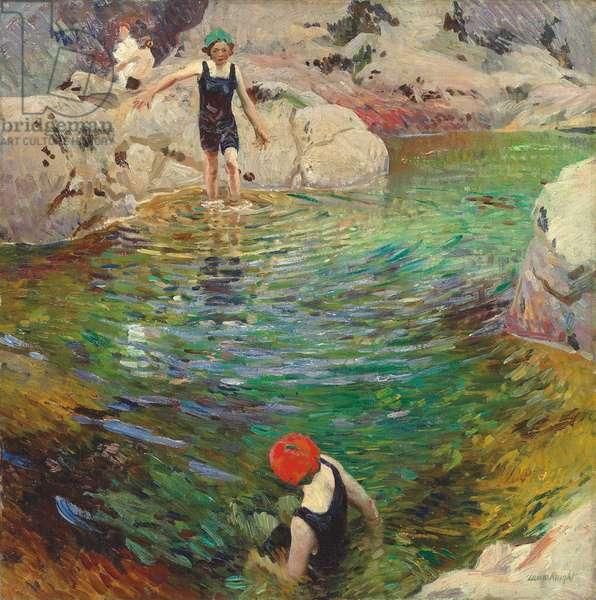 Bathing, c.1912 (oil on canvas)