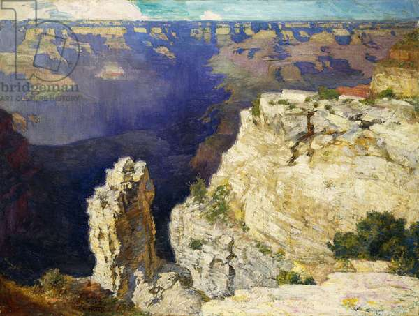 The Grand Canyon, (oil on canvas)