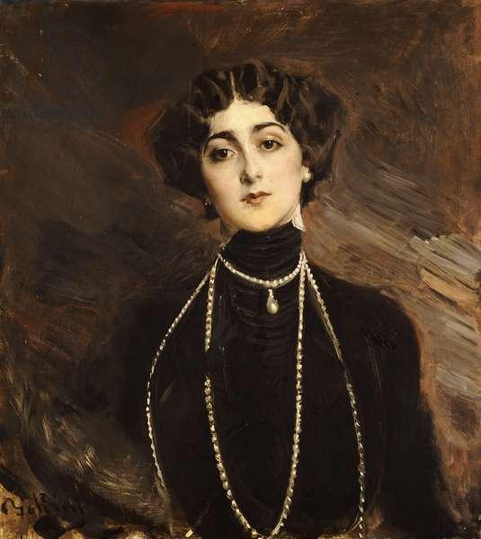 Portrait of Lina Cavalieri, c.1901 (oil on canvas)