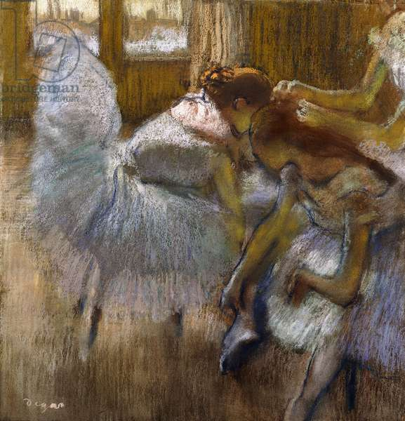Dancers at Rest, c.1885 (pastel on joined paper attached at the edges to a board)