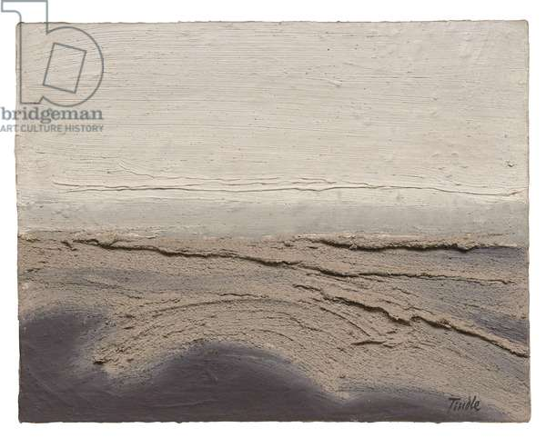 Sand banks (Walberswick) (oil & sand on board)