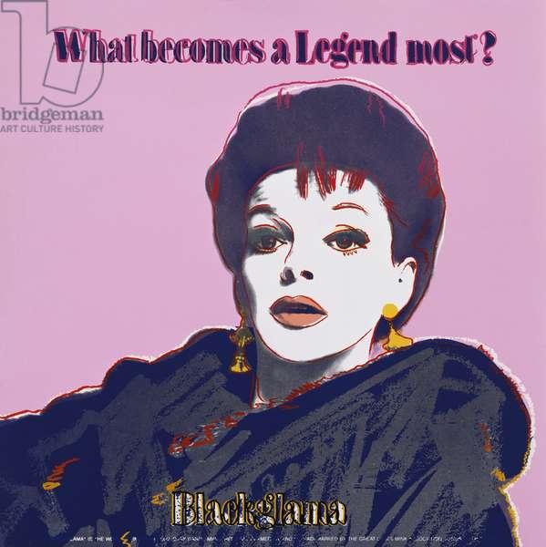 Blackglama (Judy Garland) from 'Ads', 1985 (colour screenprint)