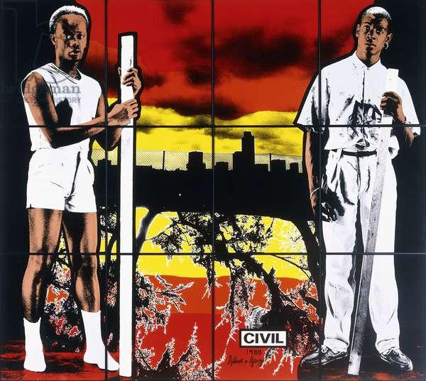 Civil, 1988 (twelve photographs in artist's frames)