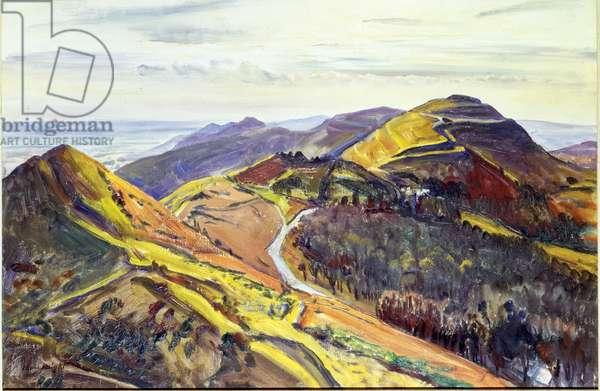 The Malvern Hills, 1958 (oil on canvas)