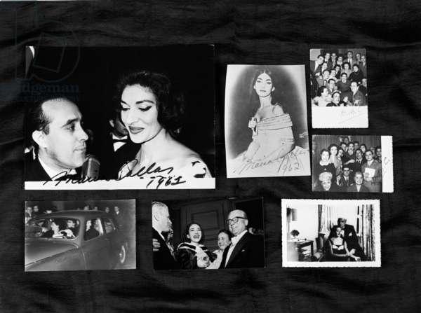 Maria Callas, 1962 (b/w photo)