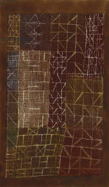 Curtain; Vorhang, 1924 (gouache and watercolour on chalk-primed linen laid down on board)