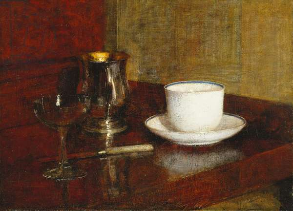 Still Life with a Glass Cup; Nature Morte au Verre et Tasse, 1961 (oil on canvas)
