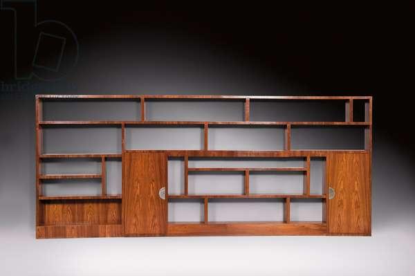 Library bookcase, c.1926 (bubinga & rosewood)