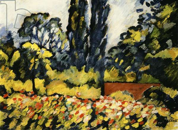 The Flower Garden at Choisel, c.1931 (oil on canvas)