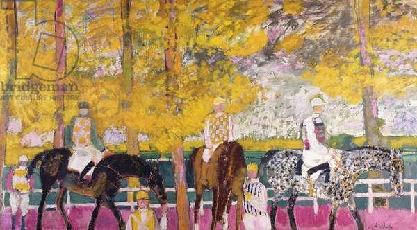 Before the Race; Avant la Course, 1962 (oil on canvas)