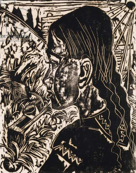 Dorli, 1917 (woodcut on thick greige wove paper)