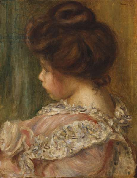 Portrait of a young girl (oil on canvas)