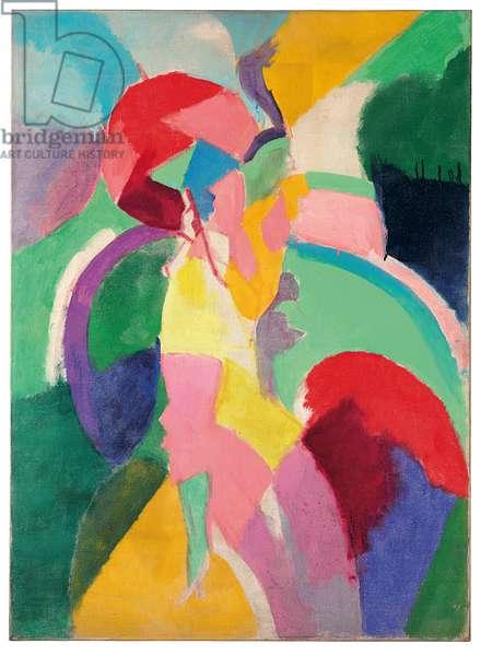Femme à l'ombrelle ou La Parisienne, 1913 (oil on canvas)